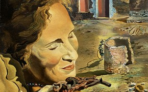 Picture surrealism, picture, Salvador Dali, Salvador Dali, Portrait of Gala with Two Lambs