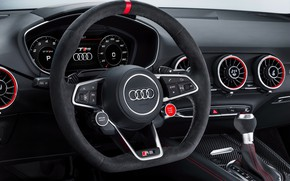 Picture car, Audi, logo, interior, Audi TT RS