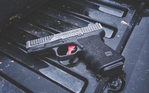Picture gun, background, AXE 19