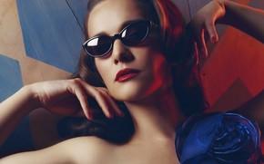 Picture actress, glasses, singer, Natalia Oreiro