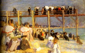 Picture Paris, 1904, Huile sur Toile, The Beach of Sainte-Adresse, MusВe national d'art moderne, The Beach …