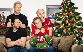 Wallpaper Daughter, Adrianna, Boys, Mel Gibson, Wife, tree, Christmas, Karen, Pictures, Mark Wahlberg, Family, Children, Alessandra ...