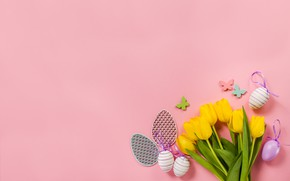 Wallpaper flowers, Celebration, tulips, Easter, pink, Easter, Holiday, flower, decor