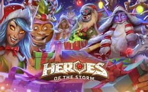 Picture New year, Blizzard, New Year, hots, Jaina, Gifts, heroes of the storm, The Malfurion Stormrage, …