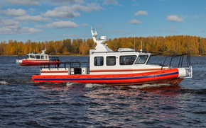 Picture autumn, boat, boat, RIB, The leader 11, Lider 10, Lider 11, The leader of the …