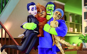 Picture cartoon, monsters, characters, the transformation, We're monsters, We're the monsters