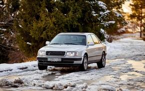Picture Audi, Silver, VAG, Almaty, 100 C4, 2.2 turbo