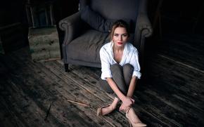 Picture look, chair, makeup, brush, Studio