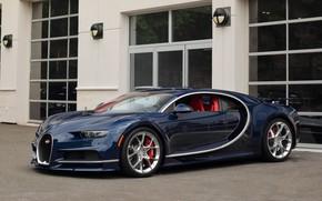 Picture dark, bugatti, blue, chiron