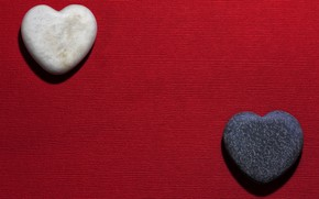 Picture red, stones, heart