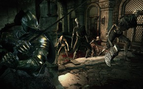 Picture the game, monsters, zombies, knight, undead, Dark Souls, Dark Souls 3