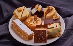 Picture chocolate, cream, cakes, cuts