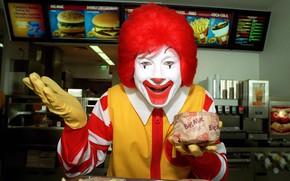 Picture situation, humor, clown, circus, fun, McDonald's, it, Ronald McDonald