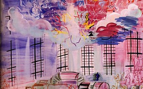 Picture France, 1937, Raoul Dufy, Electricity, Aquarelle, Collection H.G., ElectricitВ