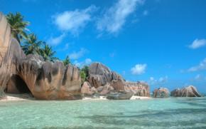 Picture sand, sea, beach, summer, clouds, tropics, stones