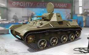 Picture The great Patriotic war, The second world war, The red army, Soviet light tank, T-60, …
