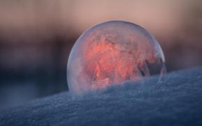Wallpaper pattern, ball, frost, bubble
