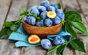 Wallpaper fruit, plum, blue, fruit