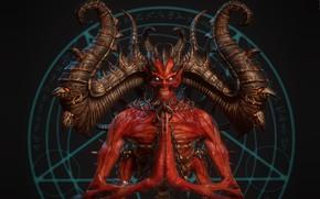 Picture horns, the devil, pentagram, horror, Mephisto, Svein Yngve Sandvik Antonsen