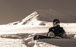 Picture Nature, Mountains, Snow, Snowboard, Freeride, Snowboarding