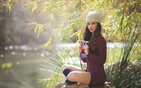 Wallpaper girl, nature, the camera, legs, Beatriz Calderon