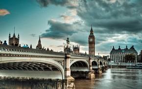 Picture bridge, the city, river, England, London, Thames