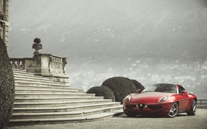 Picture Red, Alfa Romeo, Car, 2013, Metallic, Disco Volante Touring