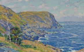 Picture sea, landscape, picture, Charles Ebert, Black Head. Monhegan Island, Charles Ebert