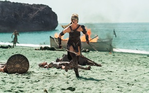 Wallpaper strong, shield, Antiope, blonde, soldier, blade, Robin Wright, DC Comics, gauntlet, man, warrior, cinema, film, ...