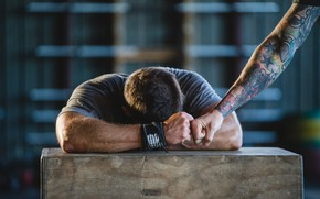 Wallpaper crossfit, tiredness, Tattoos, fatigue
