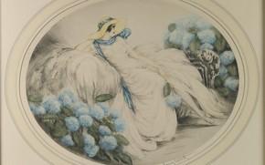 Picture hat, 1929, Hydrangea, Louis Icart
