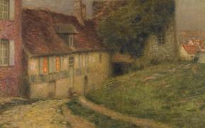 Picture road, landscape, picture, Henry Le Sedane Products, Henri Le Sidane, Village House