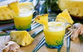 Picture juice, pineapple, ginger