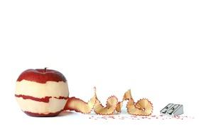 Picture background, Apple, peel