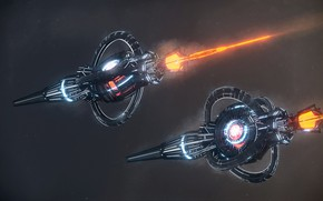 Picture space, stars, camera, jumpship, class arrow