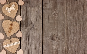 Picture hearts, love, wood, romantic, hearts