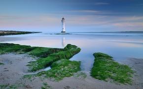 Picture sea, coast, lighthouse