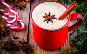 Picture decoration, tree, New Year, Christmas, Cup, Christmas, cup, chocolate, Merry Christmas, Xmas, cocoa, cocoa, decoration, …