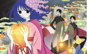 Picture girl, anime, art, guys, the fruit, youkai, xxxHolic