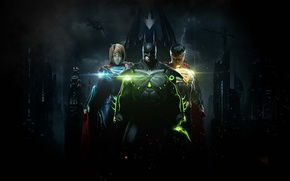 Picture game, Batman, bat, Superman, Supergirl, Bruce Wayne, Kal-El, Gotham, Kara Zor-El, Injustice 2, Linda L. ...