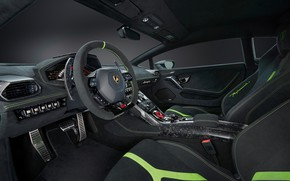 Picture Lamborghini, the wheel, salon, Performante, Huracan
