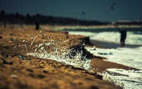 Picture foam, squirt, shore, surf