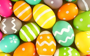 Wallpaper colorful, Easter, happy, Easter, eggs, holiday, the painted eggs