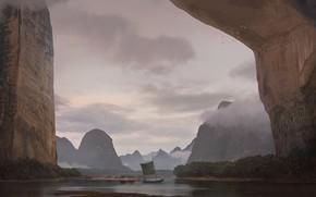 Picture rocks, boat, unexplored region, valley new