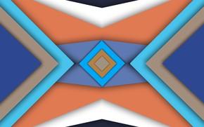 Picture triangles, figure, diamonds