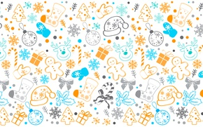 Picture winter, snowflakes, pattern