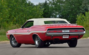 Picture Dodge, Red, 1970, Convertible, Challanger