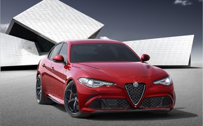 Wallpaper Alfa Romeo, Red, Car, Alfa, Sport, Italian, Giulia