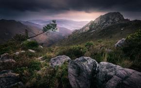 Picture mountains, Spain, Spain, Asturias, Villayon