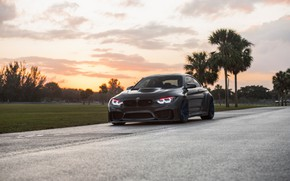 Picture BMW, Sunset, Sight, Graphite, LED, F83